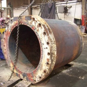 Cylinder weld repaired