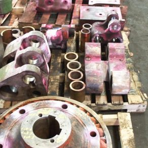 "3"" upsetter parts during inspection"
