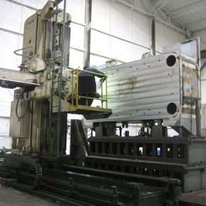 Machining press bed on mill