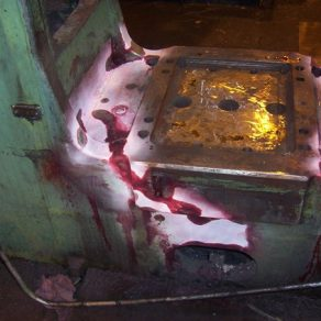 Chambersburg Cecoloy steam chest after braze welding